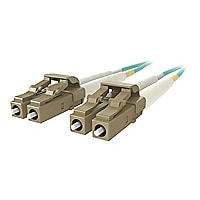 Belkin 1M Fiber Optic Cable; 10GB Aqua Multimode LC/LC Duplex, 50/125 OM3 -