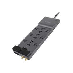 Belkin 12-Outlet Surge Protector Phone/Ethernet/Coax Protection - 10ft Cord