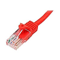 StarTech.com 6 ft Red Cat5e / Cat 5 Snagless Patch Cable 6ft