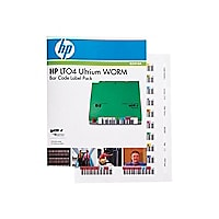 HPE Ultrium 4 WORM Bar Code Label Pack - barcode labels