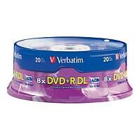 Verbatim - DVD+R DL x 20 - 8.5 GB - storage media