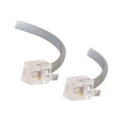 C2G 7FT RJ11 MODULAR TELEPHONE CABLE - phone cable - 2.1 m