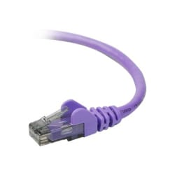 Belkin CAT6, 1ft, Purple, Snagless, UTP, RJ45 Patch Cable
