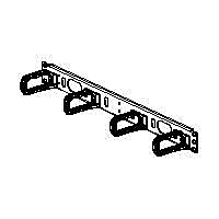 Panduit Open-Access Horizontal Cable Manager - cable management panel - 1U
