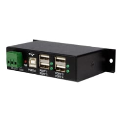 StarTech.com Mountable 4 Port Rugged Industrial USB Hub