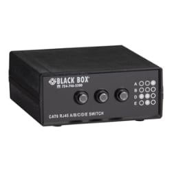 Black Box 4-to-1 CAT6 10-GbE Manual Switch (ABCD) - switch