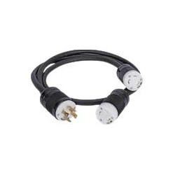 Splitter Cable L14-30P to (2) L5-30R (4ft/2ft)