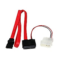 StarTech.com 20in Slimline SATA to SATA with LP4 Power Cable Adapter - SATA