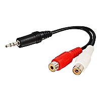 C2G Value Series 6in Value Series One 3.5mm Stereo Male To Two RCA Stereo F