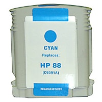 Clover Remanufactured Ink for HP 88XL (C9391AN), Cyan, 1,700 page yield