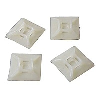 StarTech.com Self-adhesive Nylon Cable Tie Mounts - Pkg of 100 - cable orga