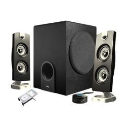 Cyber Acoustics CA-3602 2.1-Channel Speaker System with Control Pod