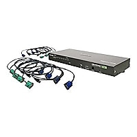 Iogear USB PS/2 Combo VGA KVM Switch with USB KVM Cables 8-Port