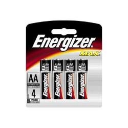 Energizer Max E91BP-4 battery - 4 x AA type - alkaline