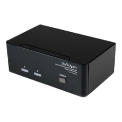 StarTech.com 2 Port Dual DVI USB KVM Switch w/ Audio & USB Hub
