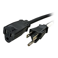 StarTech.com 6 ft Power Cord Extension - NEMA 5-15R to NEMA 5-15P