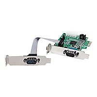 StarTech.com 2 Port Low Profile Native RS232 PCI Express Serial Card with 1