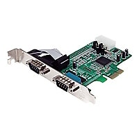 StarTech.com 2 Port Native PCI Express RS232 Serial Adapter Card with 16550
