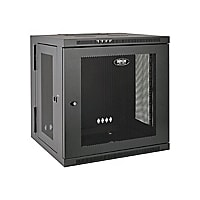 Tripp Lite 10U Wall Mount Rack Enclosure Server Cabinet Hinged w/ Door & Si