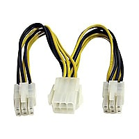 StarTech.com 6in PCI Express Power Splitter Cable - power splitter - 15 cm