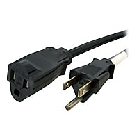StarTech.com 25 ft Power Cord Extension - NEMA 5-15R to NEMA 5-15P