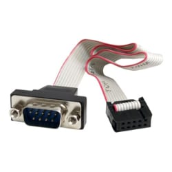 "StarTech.com ""16"""" 9 Pin Serial Male to 10 Pin Header Panel Mount Cable "" -"