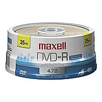 Maxell - DVD-R x 25 - 4.7 Go - support de stockage