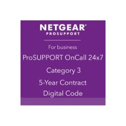 NETGEAR ProSupport OnCall 24x7 Category 3 - technical support - 5 years