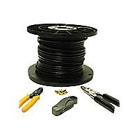 C2G RG6 Coax Installation Kit - video cable - 500 ft