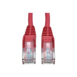 Tripp Lite 3ft Cat5e / Cat5 350MHz Snagless Patch Cable RJ45 M/M Red 3'