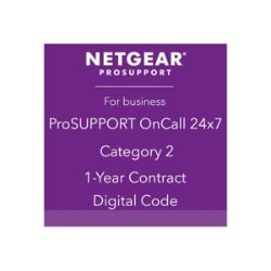 NETGEAR ProSupport OnCall 24x7 Category 2 - technical support - 1 year