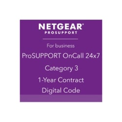 NETGEAR ProSupport OnCall 24x7 Category 3 - technical support - 1 year