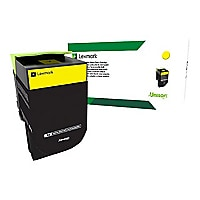 Lexmark 801XY - Extra High Yield - yellow - original - toner cartridge - LC