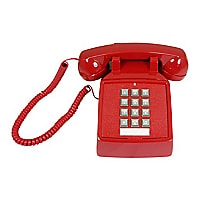 Cortelco 2500 Basic Desk Phone - Red