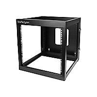 StarTech.com 12U 22in Depth Hinged Open Frame Wall Mount Server Rack