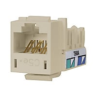 Hubbell Premise Wiring Xcelerator Modular CAT5e Jack, Off White
