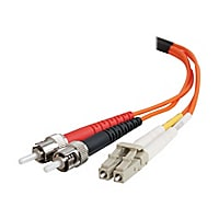 C2G 1m LC-ST 50/125 OM2 Duplex Multimode PVC Fiber Optic Cable - Orange - p