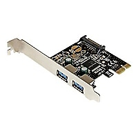 StarTech.com 2 Port PCI Express PCIe USB 3.0 Controller Card w SATA Power