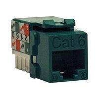 Tripp Lite Cat6 Cat5e 110 Style Punch down Keystone Jack RJ45 Green