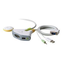 Belkin Switch2 for PC USB with Audio - KVM / audio switch - 2 ports