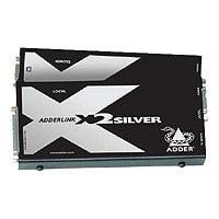 ADDER X2-DA-SILVER-US EXTENDER PAIR
