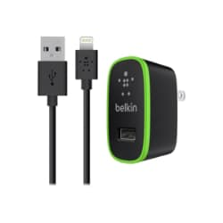 Belkin Wall Charger w/ Lightning Cable, 10 Watt, 2.1 Amp (iPhone Wall Charg