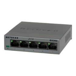 NETGEAR 5-Port Gigabit Ethernet Unmanaged Switch, Plug-and-Play (GS305)