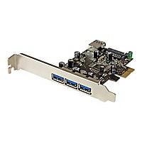 StarTech.com 4 Port PCI Express USB 3.0 Card - 3 External and 1 Internal