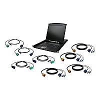 """IOGEAR GCL1908KIT - KVM console - 19"""" - with PS/2 and USB KVM Cables"""