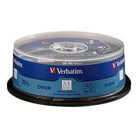 Verbatim M-Disc - DVD-R x 25 - 4.7 GB - storage media