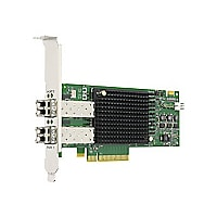 Emulex LPe31002 Gen 6 (16Gb), dual-port HBA (upgradeable to 32Gb) - host bu