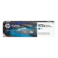 HP 972X - à rendement élevé - cyan - originale - PageWide - cartouche d'encre