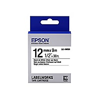 Epson LabelWorks LK-4WBN - label tape - 1 roll(s) - Roll (1.2 cm x 9 m)