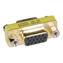 Tripp Lite Compact / Slimline Gold VGA Video Coupler Gender Changer F/F